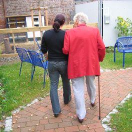 Two ladies taking a walk