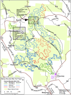 Proposed mountain bike trail system at Wayne National Forest