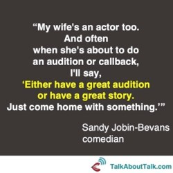 Sandy Jobin-Bevans quote - a great story