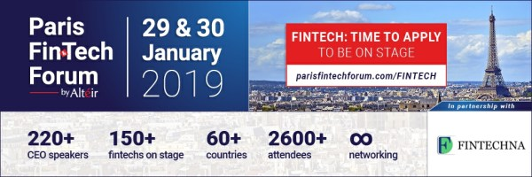 Fintechna is proud partner of Paris Fintech Forum 2019 fintech