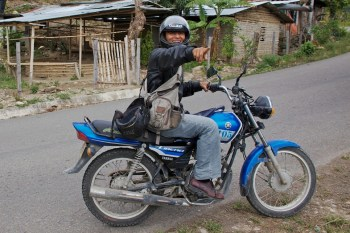 pabel martyr on motorcycle