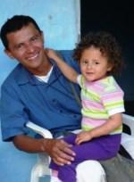 pabel martyr holding daughter