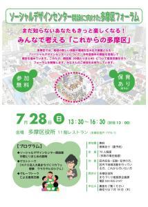 ソーシャルデザインセンター開設に向けた多摩区フォーラム(2019.07.28)