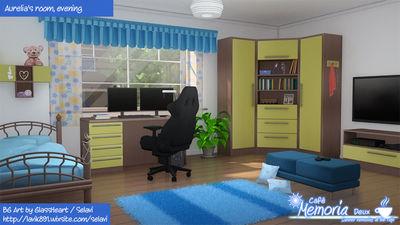 Aurelia's room, evening