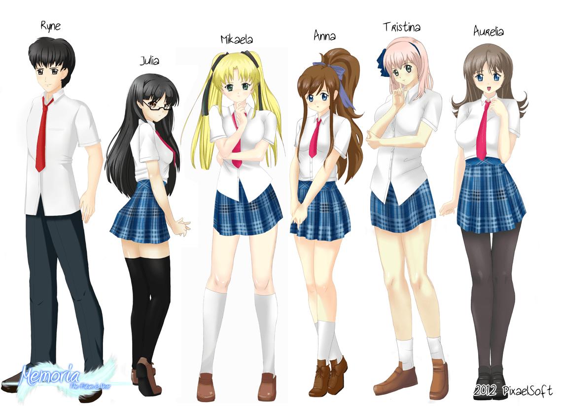 Memoria characters group pic