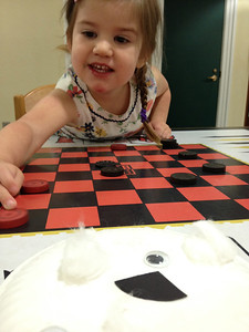 I played Checkers with Esme while Catherine was in science club