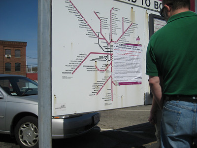 Catherine's photo of the commuter rail map