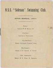 Page 1 Booklet for the Kieran Memorial Fund — Nautical Ship Sobraon Amateur Swimming Club Grand Carnival held at Drummoyne Baths on 24 January 1906