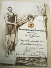 Swimming Certificate (reproduced with permission from the Powerhouse Museum)