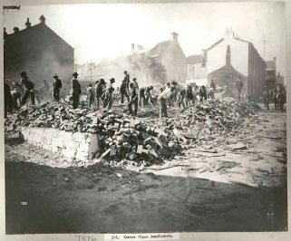 Exeter Place - demolished, Sydney, c.Jul 1900. Digital ID 12487_a021_a021000032