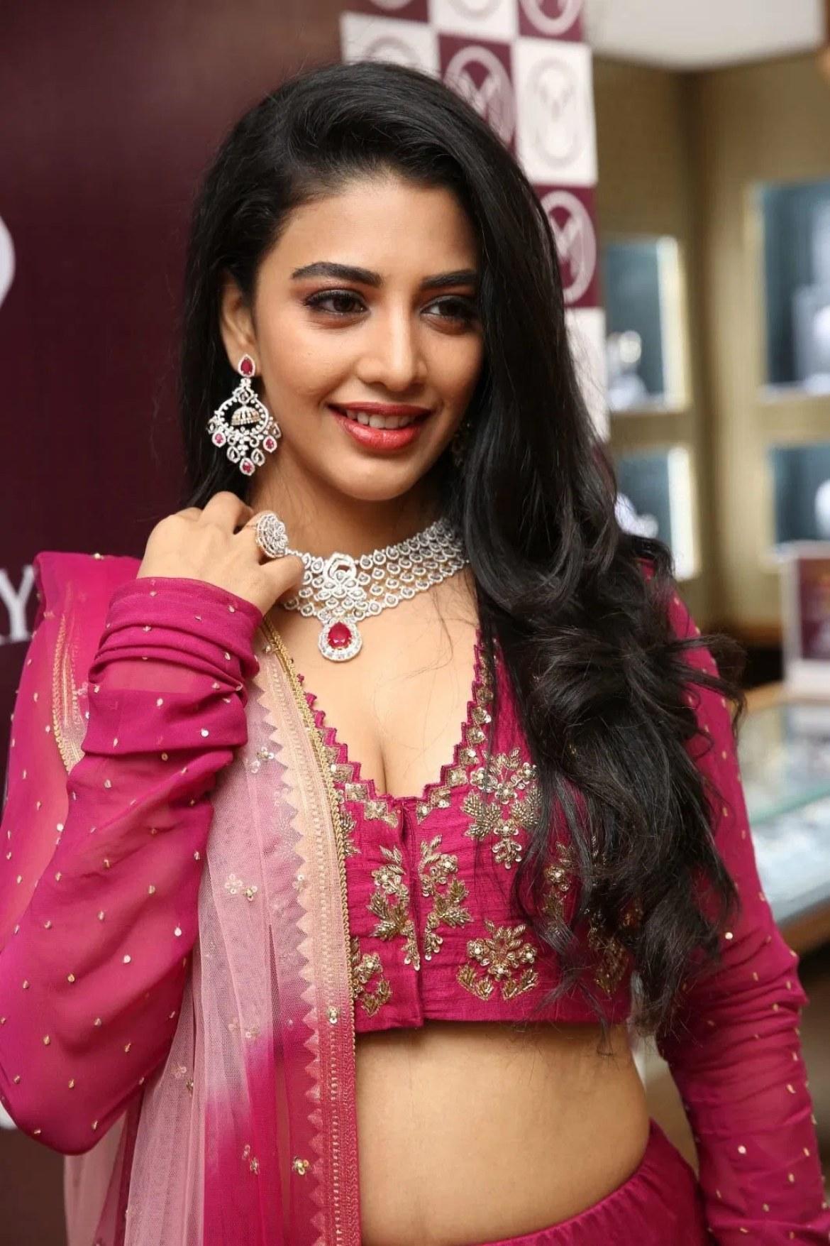 Daksha Nagarkar in pink lehenga stills - South Indian Actress