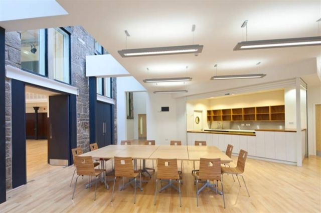 Meeting room at Maryhill Burgh Halls.