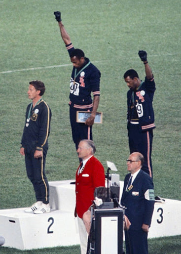 1968 Mexico Olympics, Men's 200m winners' podium