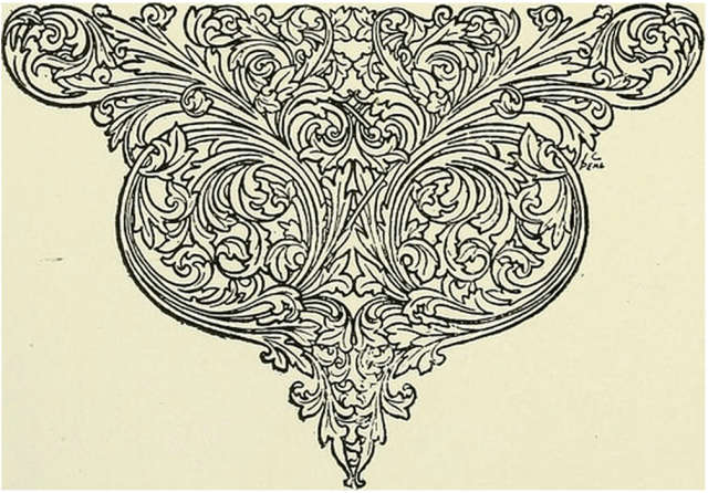 detailed illustrated scrollwork