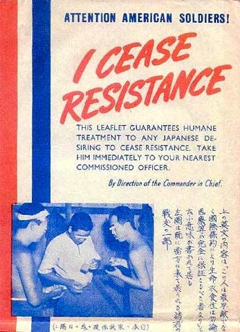 Propaganda leaflet, World War II