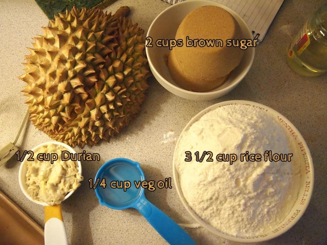 Durian Nian Gao Recipe
