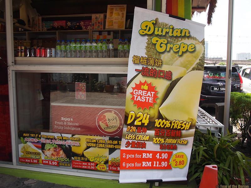 Durian snacks Kuala Lumpur