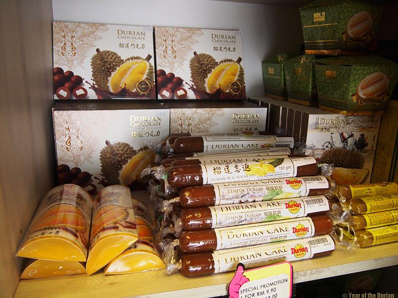 Durian lempok at Durian Kafe