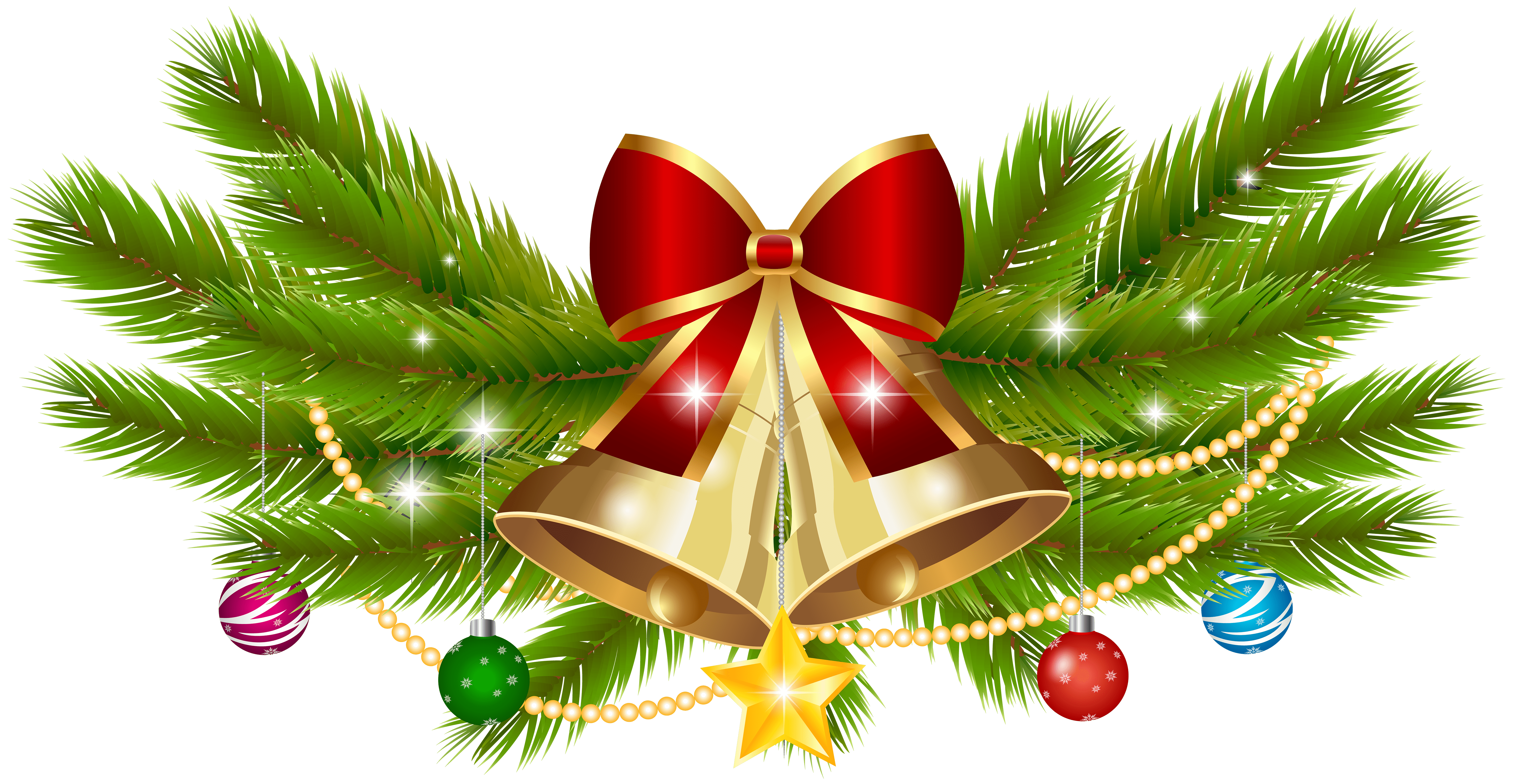 Christmas Bell Decoration Png Clip Art Image Gallery