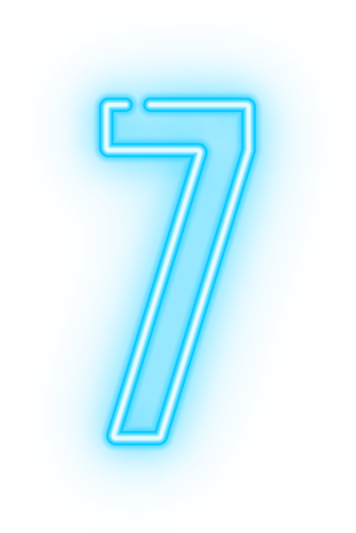 Neon Number Seven Transparent Clip Art Image Gallery