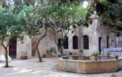 The palace's central courtyard