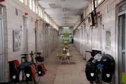 Bikes in a hammam