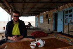Andrew enjoying his tea