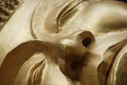 Buddha's golden face
