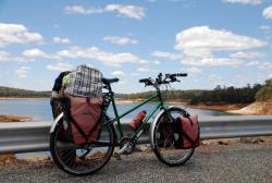 Picnic stop at a dam