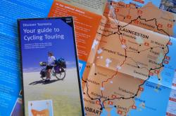 Cycle touring brochure from Tasmania