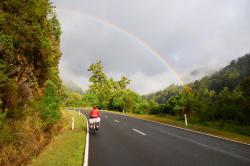Cycling under a rainbow