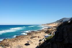 The sea around the Tangier coast
