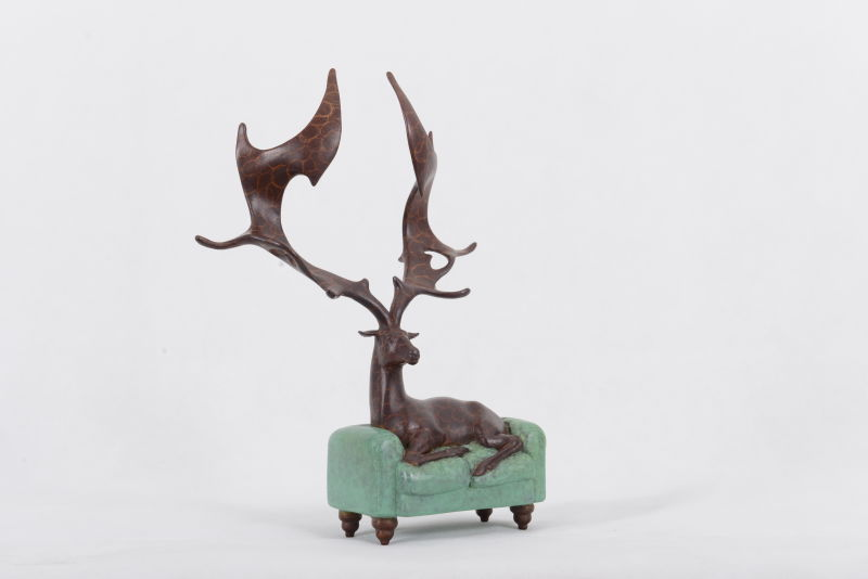 Zhang Yong; Lost Deer, bronzeJPG copy