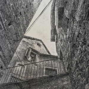 """""""Orta San Guilio"""" © David Aimone. Approx. 8x12"""" handcrafted gum oil print on Arches Platine paper. Signed single edition print offered by GALLERY5X7."""