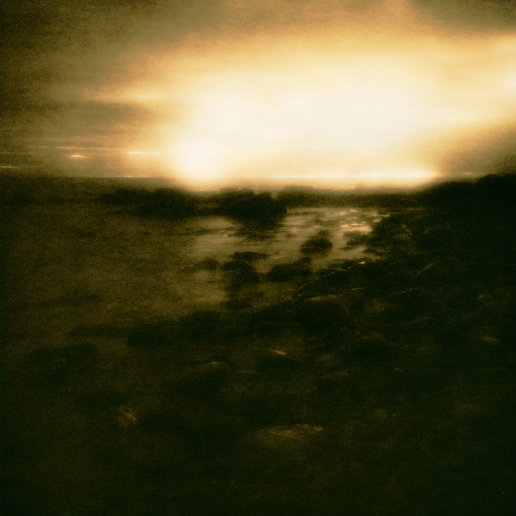 """""""Sunrise on Titan"""" © Iván B. Pallí. """"Sunrise on Dunbeath Beach, Caithness, Scotland."""" Approx. 20x20cm hand-printed silver gelatin lith print on Fomatone MG Classic paper. Signed and numbered original print, edition 1/5, offered at $250."""
