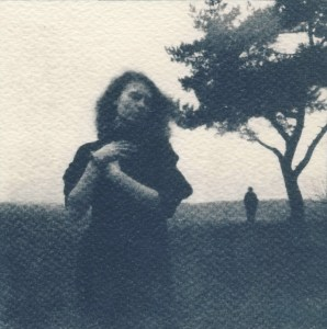 """""""Lure"""" © Victor Senkov. Print from handmade pinhole plate from vintage Soviet Svema B/W film. Approx. 5.1x5.1"""" (13x13cm) handcrafted alternative process photograph (cyanotype, toned). GALLERY5X7 offers this signed, numbered and stamped original artist print at $250."""