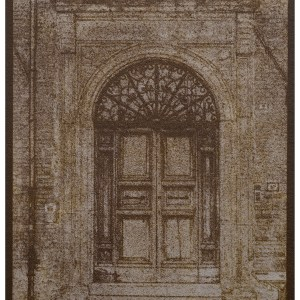 """""""Church Door Norcia"""" © Alan Glover. Approx 7x5"""" handcrafted gum bichromate print from a single negative using watercolour pigments on Hahnemuhle Platinum Rag paper. GALLERY5X7 offers this original print, signed on the mount (mount size 12x8.25"""")."""