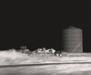 """""""Silo"""" © Marc Sirinsky. Approx. 7.5x9"""" handcrafted silver gelatin print from from antique bakelite camera negative. Original, signed, editioned (1/10) print offered at $250."""