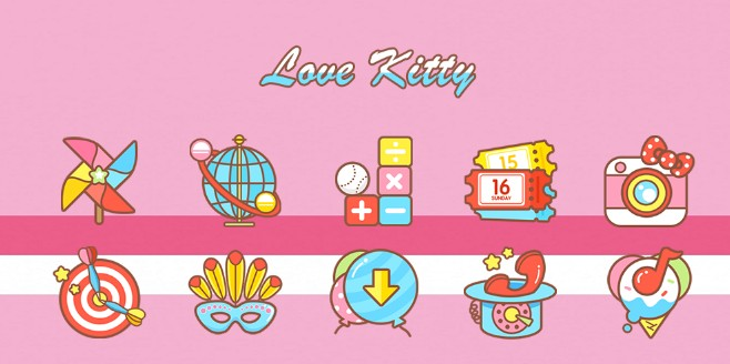 tema android love kitty solo theme
