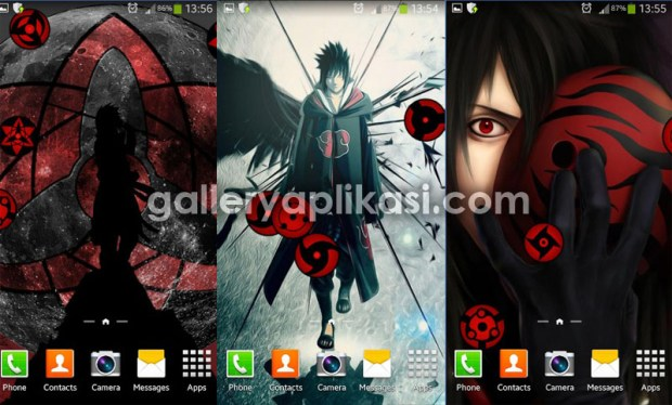 tema android naruto sharingan live wallpaper