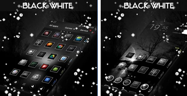 go launcher themes Black & White