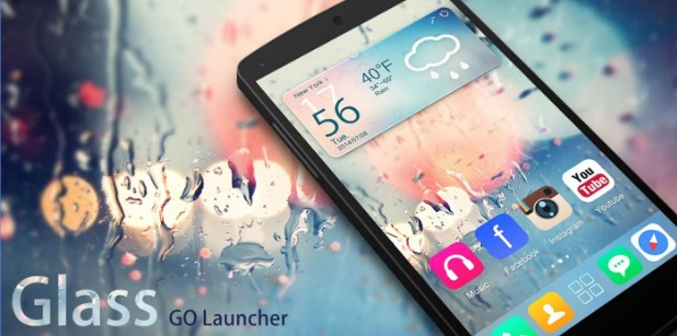 go launcher themes Glass