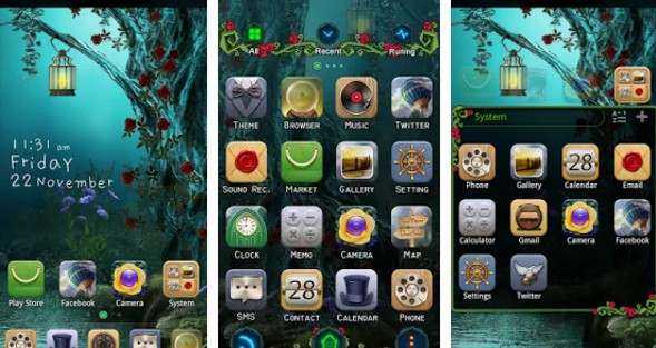 go launcher themes Wonderland