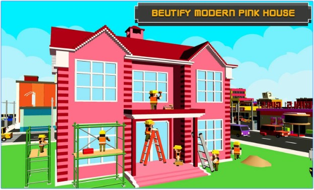 Pink Girl House Construction