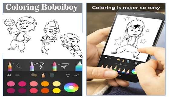 Boboiboy coloring for kids Jaman Now