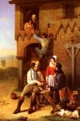 Bernard_Adolphe_Flirtation_At_The_Town_Gate