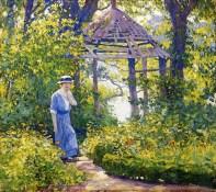 Girl in a Wickford Garden, New England