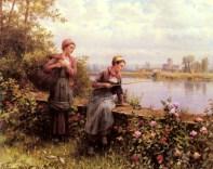 Knight_Daniel_Ridgeway_Maria_And_Madeleine_Fishing