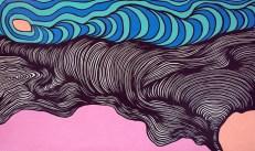 Deanna Lee Dov'e, 2011 acrylic on paper 34 x 58″