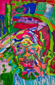 Amanda Kates Beautox Acrylic Paint and Marker on Paper 14 x 22 inches, 2012